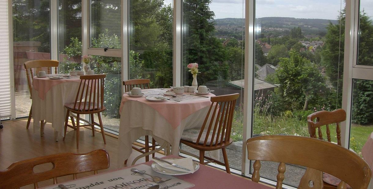 Enjoy breakfast in the conservatory overlooking Chesterfield