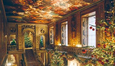 The painted hall at Chatsworth