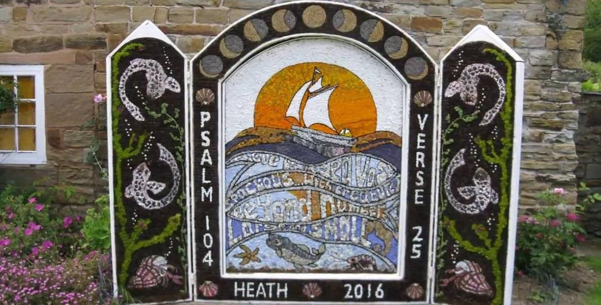 Heath Well Dressing under Construction