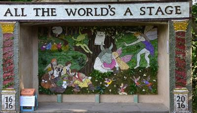 Holymoorside Well Dressing Under Construction