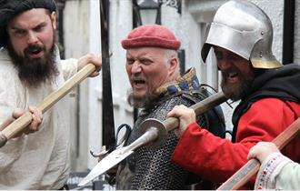 Knights at Chesterfield Medieval Fun Day