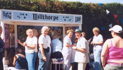 Millthorpe Well Dressing Under Construction