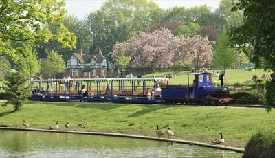 Miniature train in Queen's Park