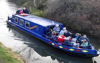 Santa on the Chesterfield Canal - Hollingwood Hub