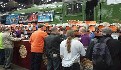 Rail Ale Festival at Barrow Hill Roundhouse Railway Centre