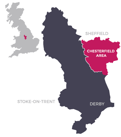 Map of Chesterfield Area